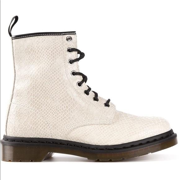 Dr Martens 1460 White Python Boots